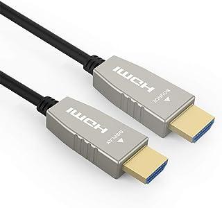 RUIPRO ファイバーHDMIケーブル 4K60HZ HDR ライトスピード HDMI2.0b ケーブル 18.2 Gbps ARC HDR10 Dolby Vision HDCP2.2 4:4 ウルトラスリム フレキシブル HDMI オプテ...