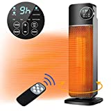 QUARED Fan Heater, 2000W Ceramic Vertical Space Heater with Smart Adjustable Thermostat, Quiet, 60°...