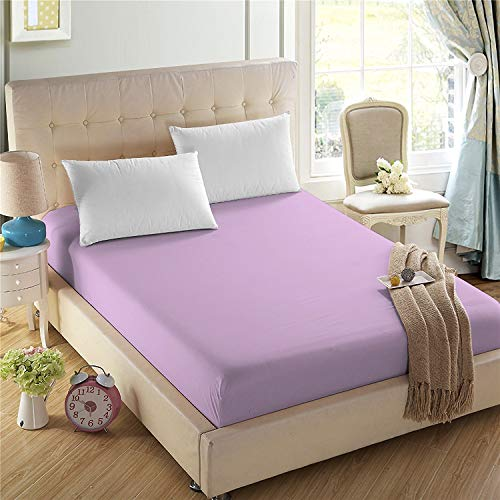 4U LIFE Bedding Fitted Sheets-Prime 1800 Series,Double Brushed Microfiber,Ultra-Soft Feel and Wrinkle,Fade Free,Deep Pocket for Oversized Mattress(Twin,Lavender Purple)