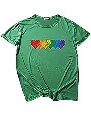 Casual vrouwen O-hals Pride Rainbow Flag Tops Tuniek Trui Korte Mouw Blouse T-Shirt