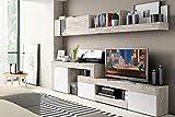 Mobelcenter - Mueble de salón, colección Logan 003, Color Blanco y Vintage, 270x39x77cm Ref: 0799.