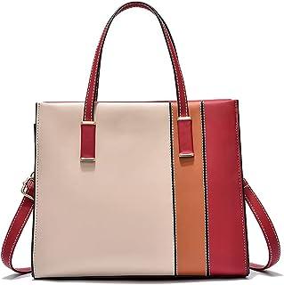 YeumouG Handtasche Damen Shopper Groß Elegant Schwarz Schultertasche Umhängetasche Frau Henkeltasche Damen Tasche (Rot)