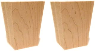 Highland Manor Wood Products Set of 2-4 Sided Tapered Bun Foot (Maple) - 4 1/2