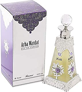 Arba Wardat by Rasasi for Men, Eau de Parfum, 70ml with Dalaa Al Banat-Behja, Women, 50ml