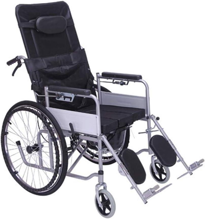 XUXUWA Medical Rehab Genuine Soldering Chair Lightweight Folding Wheel Wheelchair