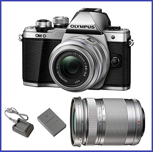 Discover Bargain Olympus OM-D E-M10 Mark II (14-42mm IIR & 40-150mm Lenses, Silver)