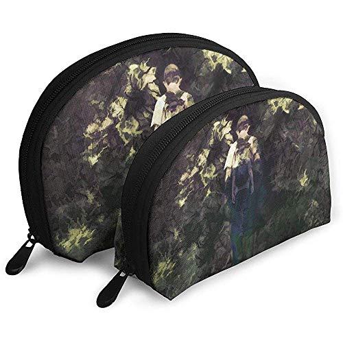 Fantasie Kunst Malerei Junge Tragbare Taschen Make-up Kulturbeutel, Multifunktions Tragbare Reisetaschen Kleine Make-up Clutch Pouch mit Reißverschluss