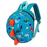 Toddler Kids <span class='highlight'>Backpack</span> Rucksack for Boys/Girl, Dinosaur Rucksack Toddler, Cartoon Safety Anti-Lost Strap Rucksack with <span class='highlight'>Reins</span> Kids Bag 27 * 19 * 11cm / 10.62 * 7.28 * 4.33inch (Sky Blue)