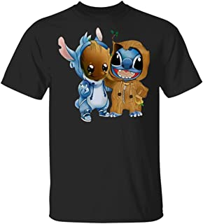 Stitch and Groot Tshirt