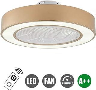 N / A Ventiladores de Techo con luz LED para la luz Ventilador de Techo, Regulable con Mando a Distancia, la Velocidad del Viento Ajustable Moderna Creativa 72W Ultra silencioso Ventilador de l.