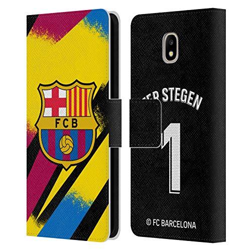 Head Case Designs Oficial FC Barcelona TER Stegen 2019/20 Jugadores Tercer Kit Grupo 1 Carcasa de Cuero Tipo Libro Compatible con Samsung Galaxy J5 (2017)