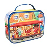 Daniel Tiger's Neighborhood - Insulated Durable Lunch Bag Tote, Reusable Lunch Box with Handle - Trolley with Friends - Great