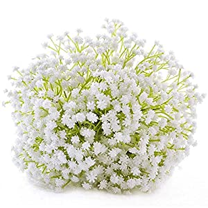 GUOCAO Artificial Flower Holding Flowers Artificial Flower Gypsophila Decoration Home Decoration Accessories Holding Flowers Wedding Flowers Stars Fake Silk Wedding Party Bouquets Home Decoration Wedd
