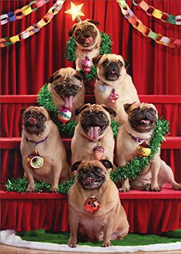 Pug Christmas Tree Avanti Funny/Humorous Dog Christmas Card