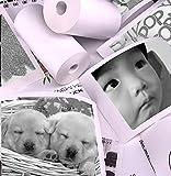 JING Cámara imprimible para niños Papel fotográfico Polaroid, Papel de impresión Papel fotográfico térmico Papel de película 12 Rollos