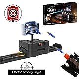 Target for Nerf Guns, Electric Scoring Auto Reset Shooting Digital Running Targets, Moving Target for Nerf Guns Blaster N-Strike Elite/Mega/Rival Series Ideal Gift Toy for Kids, Teens, Boys & Girls