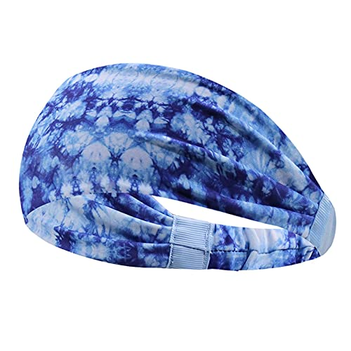 luminiu Tie-Dye - Cinta para la cabeza deportiva para mujer, suave y elástica, con absorción del sudor, para la cara, yoga, para niñas
