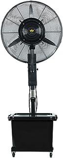 Ventilador de pedestal Humidificador de nebulización de humidificador, Ventilador de refrigeración para circulación de aire, 3 velocidades, Ventiladores de mesa eléctricos silenciosos y oscilantes C