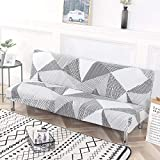 Beacon Pet Stretch Sofa Slipcover Armless Futon Cover Printed Fitted Furniture Protector Elastic Polyester Spandex...