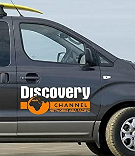 ARWY car Stickers Exterior Discovery Logo for car Stickers Color White and Orange(59X25 cm)