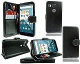 PIXFAB LG Google Nexus 5X New Slim Black Leather Flip Book