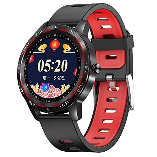 OKMJ Smart Watch for Men Mujer, 1.3 '' IP67 A Prueba de Agua SmartWatch [Respuesta de Bluetooth/Hacer Llamadas] con Ritmo cardíaco/presión Arterial / SPO2 Monitor Sport Running Fitness Round Watch