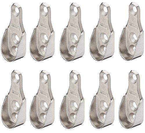 Gedotec Seitenwand Schrankrohrlager OVAL Kleiderstangen-Halterung Wand-Montage - H10740 | Schrank-Rohrhalter für Ovalstange | MADE IN GERMANY | 50 Stück - Stangen-Befestigung für Garderobenstangen