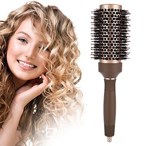 Rundbürsten, antistatischer Haarkamm Nano Thermal Ceramic & Ionic Hairdressing Brush Tool zum Trocknen, Stylen, Locken, Hinzufügen von Haarvolumen und Glanz(43#)