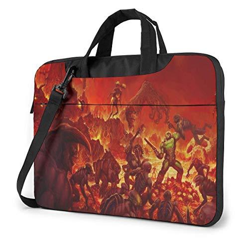 Video Game Doom Laptop Sleeve Laptop Bag Tablet Briefcase Ultraportable Protective Handbag Oxford Cloth-for MacBook Pro/MacBook Air/Notebook Computer 14inch