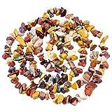 Mookaitedecor Mookaite - Perline sfuse con pietre irregolari per fai da te e gurione, per fabbricazione di gioielli