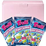 Trolli Planet Gummies Pack of 3 in a PINKRISTMAS Gift Box - Sour Filled Fruit Gum