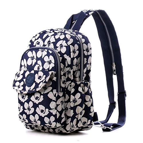 Wedmay Women's City Pack Mini Backpacks Small Crossbody Backpack Shoulder Casual Daypack Rucksack (8013 Bold Flower)