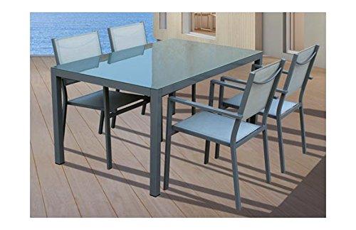 VDC Conjunto Silver Mesa Rectangular + 6 sillas