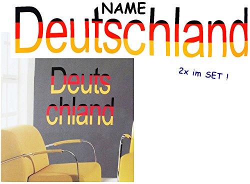 alles-meine.de GmbH 4 Stück: große _ Wandsticker -  Deutschland !  - incl. Name - selbstklebend + wiederverwendbar - Aufkleber für Kinderzimmer - Wandtattoo / Sticker Kinder - ..