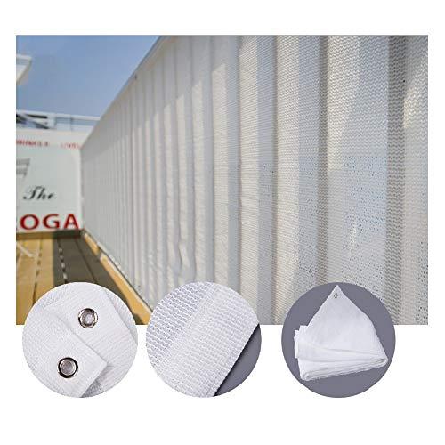 LIANGLIANG Malla Sombra de Red, Blanco Protector Solar Cifrado Polietileno Anti-UV Tasa Sombreado 95% Protección Ambiental Antienvejecimiento, Talla Personalizable (Color : White, Size : 2x3m)