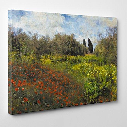 Quadro su Tela Canvas - INTELAIATO - Pronto da Appendere - Claude Monet - IMPRESSIONISMO - Arte Moderna - 30x40cm - Senza Cornice - (cod.208)