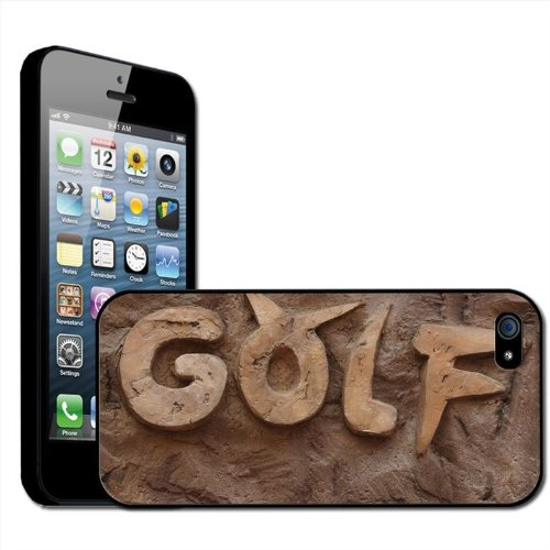 Fancy A Snuggle opsteekbare harde schaal voor Apple iPhone 5, motief golf in goud in steen geeitst