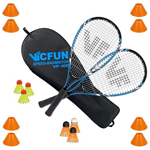 VICFUN Speed Badminton Set Speed Badminton 100 Set field Premium