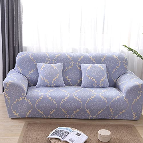 Sala de Estar Impresión Gris Funda de sofá de Esquina Funda de sofá elástica Funda de sofá en Forma de U Estiramiento en Forma de L 1 2 3 4 plazas A30 4 plazas