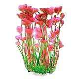 decorazioni acquario, piante acquario acquatiche, piante per acquario finte, pianta artificiale accessori per acquario decorazioni - 15.7in/40cm, rosa