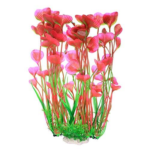 Grandes Plante Artificielle Aquarium, Plastique Plante Aquatique Artificielle, Decorative Plante pour Aquarium, Poissons Décorations, Base éramique - 15.7 Inch/40 cm