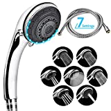 Shower Head and Hose,Lucksun 7 Mode Settings Large Luxury Shower Heads,with Handheld Spray