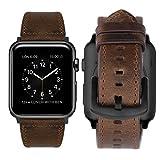 iBazal Lederarmband Ersatz für iWatch Series 6 SE 5 4 3 2 1 Armband 44mm 42mm Leder Uhrenarmband...