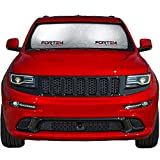 Fortem Car Sun Shade for Windshield, Sun Visor Front Windshield Sunshade, Windshield Cover, Automotive Interior Sun Protection, Foldable, Storage Bag (Large)