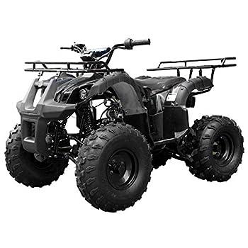 X-Pro 125cc ATV 4 Wheels Quad 125 ATV Quads with LED Lights Big 19 /18 Tires!(Army Black)