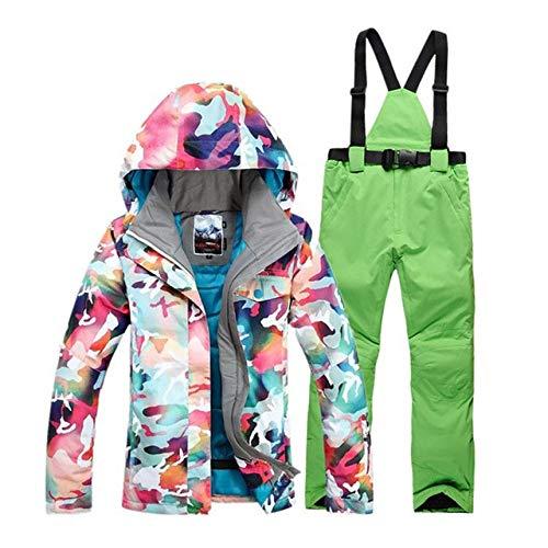 XFCMCP ski pak vest ski-jas ski broek kleding winddicht waterdicht dames winter warme jas