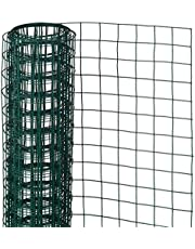 Gaas vierkant 0,5x2,5 m 13 mm kunststof gecoat staal groen