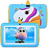 Tablet for Kids 7 inch Kids Tablet, 2GB RAM 16GB ROM, Android 9.0 Tablet, IPS HD Display, Parent Control,Kid-Proof, Google Certified Playstore, WiFi,Android Tablet, Blue