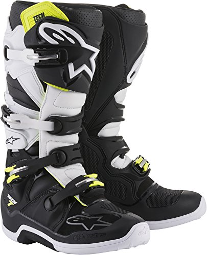 Alpinestars Unisex-Adult Tech 7 Boots Black/White Sz 14 (Multi, one_Size)