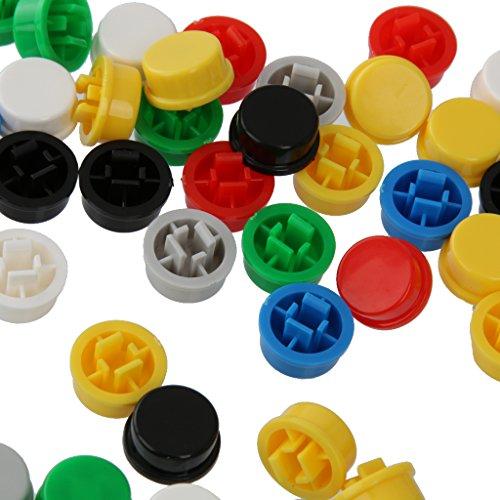 Juego de 140 tapas redondas para interruptores de 12 x 12 x 7,3 mm